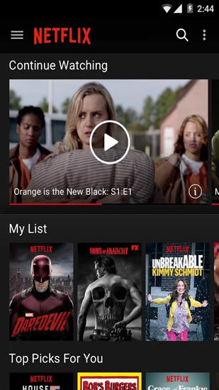 Netflix app for Android, download programs for phones and tablets for free.