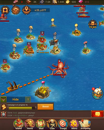 Pirate war: Age of strike screenshot 2