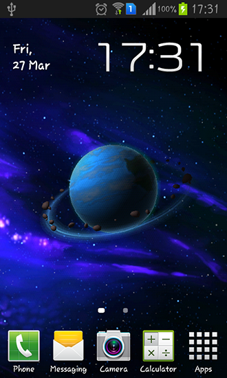 Andromeda live wallpaper for Android  Andromeda free download for