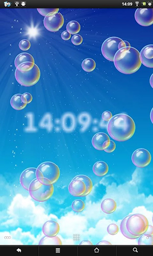 Bubbles Clock Live Wallpaper For Android Bubbles Clock Free