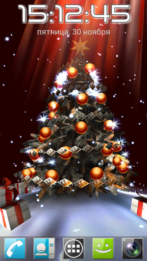 christmas tree 3d live wallpaper for android christmas tree 3d free