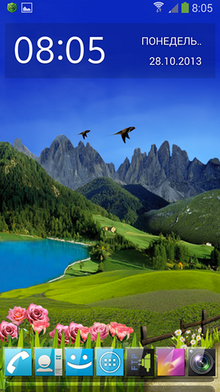 Mountain weather live wallpaper for Android. Mountain weather free download for tablet and phone.