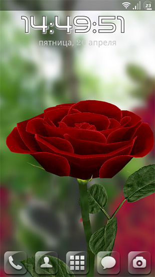 Rose 3d Live Wallpaper For Android Rose 3d Free Download For Tablet