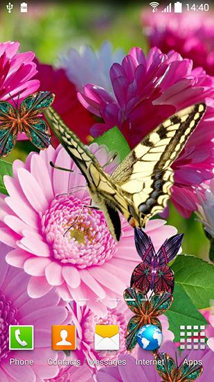 06462298914 Spring flowers 3D на Андроид скачать бесплатно. Живые обои для Android.