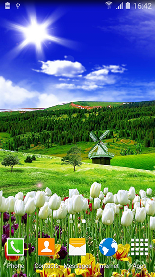 Spring nature live wallpaper for Android. Spring nature free download for tablet and phone.