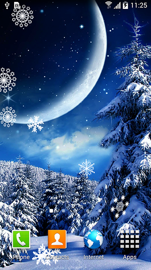 Winter Night By Blackbird Wallpapers Live Wallpaper For Android Free Download Tablet And Phone