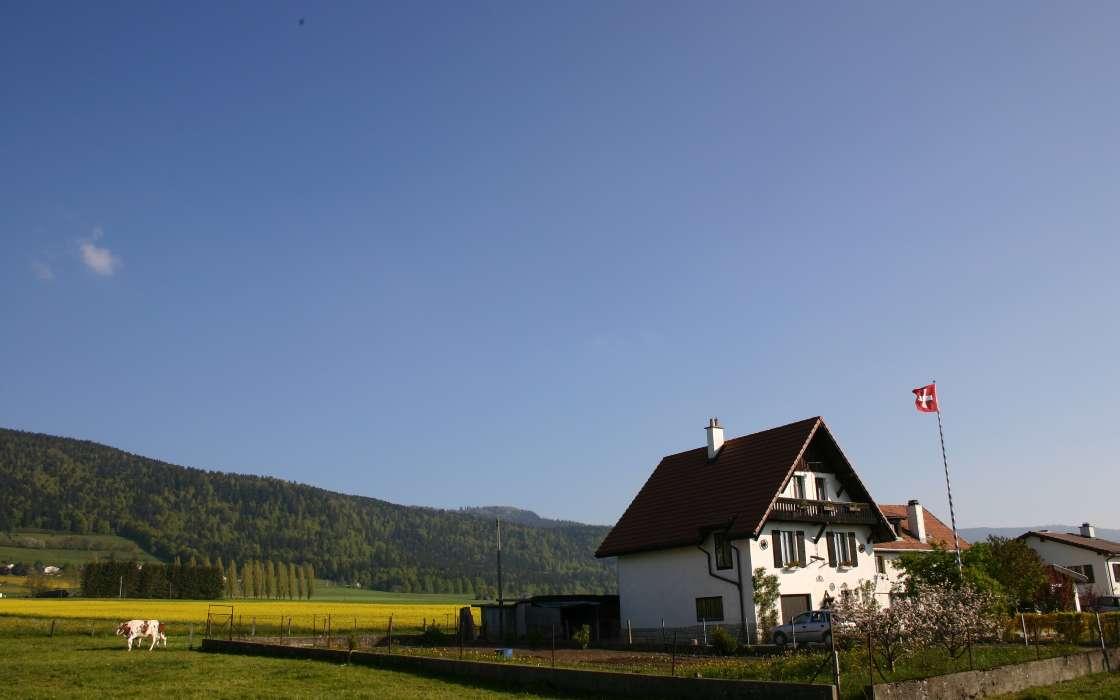 手机壁纸:景观, 房子, 天空, #1670