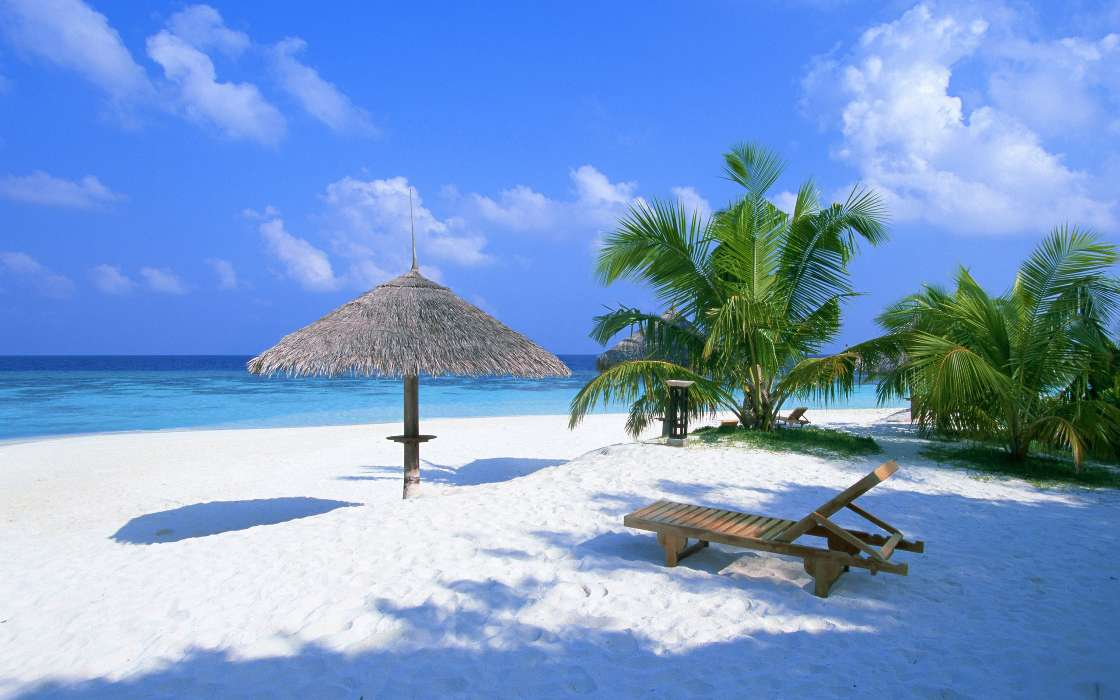 手机壁纸:景观, 天空, 海, 海滩, #259