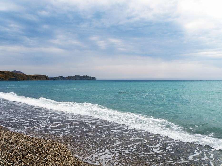 手机壁纸:景观, 天空, 海, 海滩, #27569