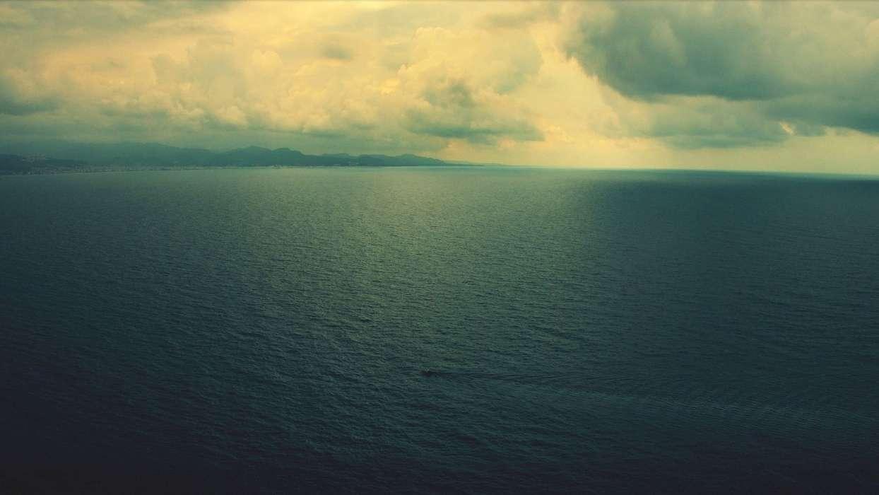 手机壁纸:景观, 海, 云, #25970