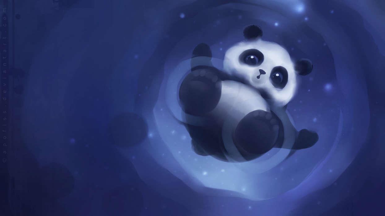 手机壁纸:动物, 图片, 大熊猫, #21872