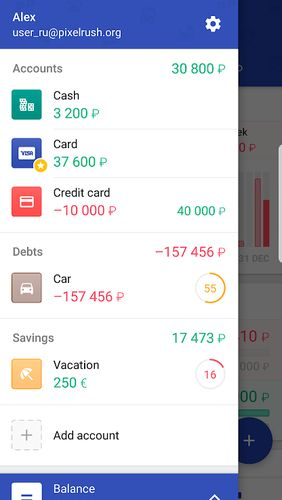 Les captures d'écran du programme 1Money - Expense tracker, money manager, budget pour le portable ou la tablette Android.