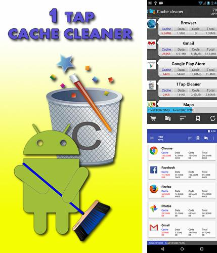 Download 1 tap cache cleaner for Android phones and tablets.