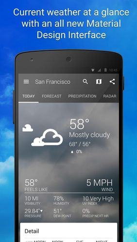 Download 1Weather for Android for free. Apps for phones and tablets.