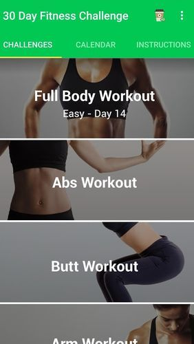 Descargar gratis 30 day fitness challenge - Workout at home para Android. Programas para teléfonos y tabletas.