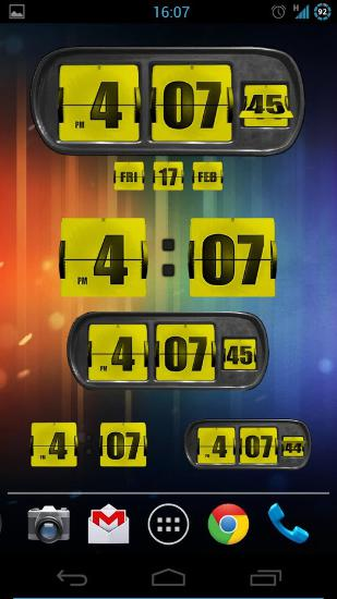 Animated Flip Clock 3D app for Android, download programs for phones and tablets for free.