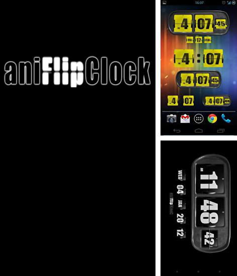 Besides Translit Android program you can download Animated Flip Clock 3D for Android phone or tablet for free.