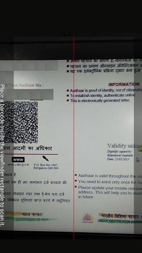 Aadhar: QR decoder/encoder app for Android, download programs for phones and tablets for free.