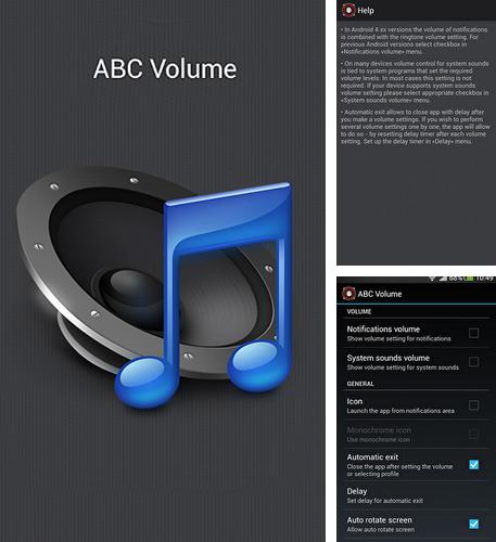 Besides Badoo Android program you can download ABC volume for Android phone or tablet for free.