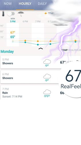 Capturas de tela do programa AccuWeather: Weather radar & Live forecast maps em celular ou tablete Android.
