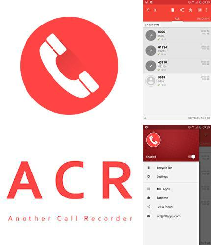 Besides GO Launcher HD Android program you can download ACR: Call recorder for Android phone or tablet for free.
