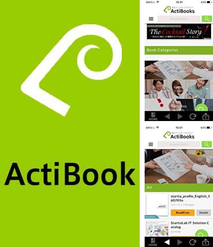 Besides Footej camera Android program you can download ActiBook for Android phone or tablet for free.