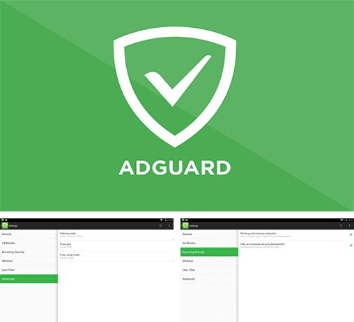 Besides Doctor Clean: Speed Booster Android program you can download Adguard for Android phone or tablet for free.