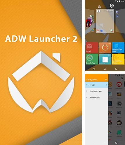 Besides iPhone 5 clock Android program you can download ADW: Launcher 2 for Android phone or tablet for free.