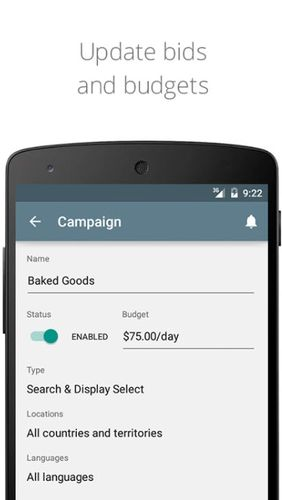 AdWords app for Android, download programs for phones and tablets for free.