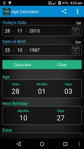 Download Age calculator for Android for free. Apps for phones and tablets.