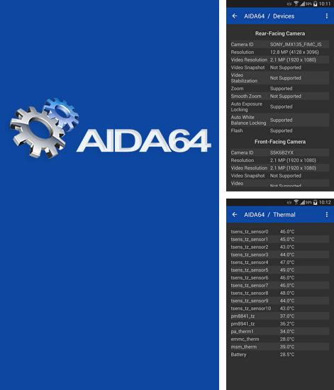 Besides Screener Android program you can download Aida 64 for Android phone or tablet for free.