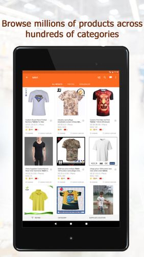 Screenshots of Alibaba.com program for Android phone or tablet.