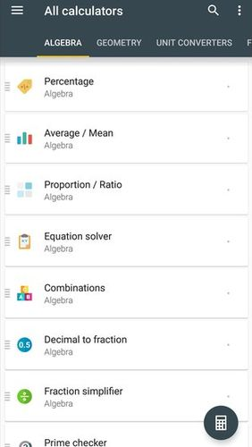 Descargar gratis All-In-One calculator para Android. Programas para teléfonos y tabletas.