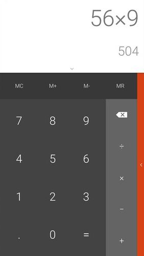 Screenshots des Programms All-In-One calculator für Android-Smartphones oder Tablets.