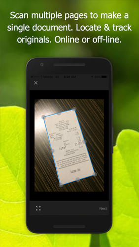 Screenshots des Programms Alldox: Documents Organized für Android-Smartphones oder Tablets.