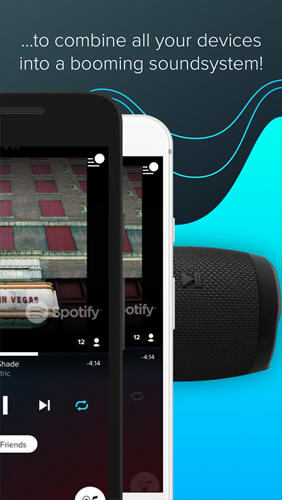 Screenshots des Programms AmpMe: Social Music Party für Android-Smartphones oder Tablets.