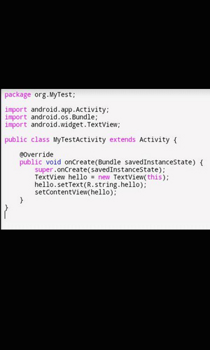 Android java editor