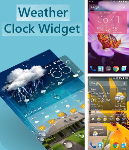 Descargar gratis Weather and clock widget para Android. Apps para teléfonos y tabletas.