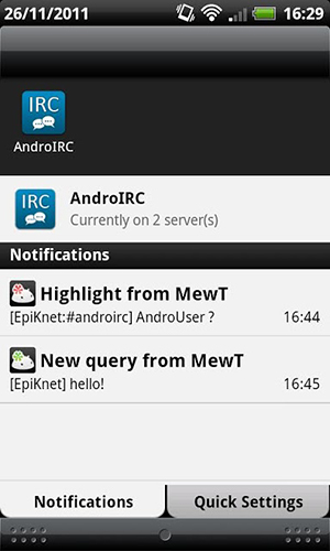 AndroIRC app for Android, download programs for phones and tablets for free.