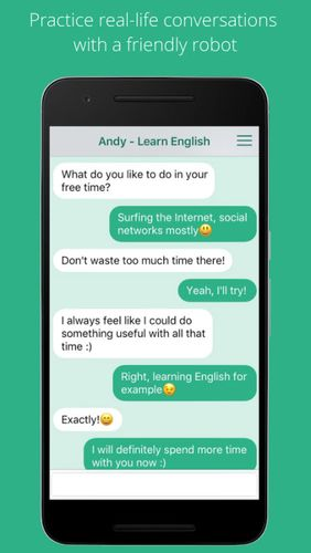Download Andy - English speaking bot for Android for free. Apps for phones and tablets.