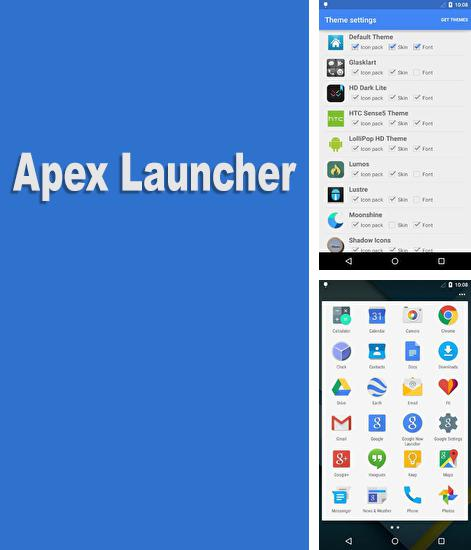 Besides Transparent clock and weather Android program you can download Apex Launcher for Android phone or tablet for free.