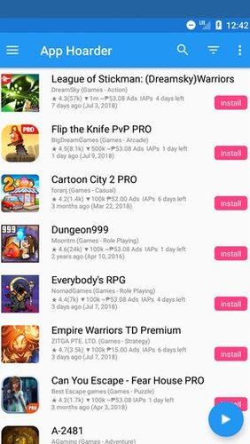 Baixar grátis App hoarder - Paid apps on sale for free para Android. Programas para celulares e tablets.