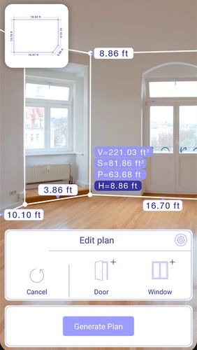 AR plan 3D ruler – Camera to plan, floorplanner app for Android, download programs for phones and tablets for free.