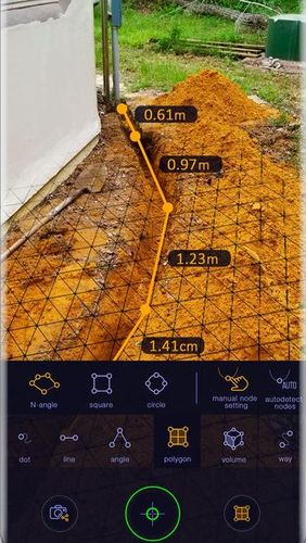 Screenshots of AR Ruler app – Tape measure & Camera to plan program for Android phone or tablet.