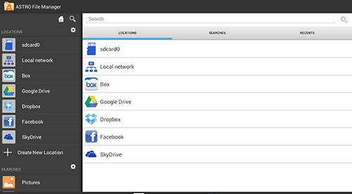 Screenshots des Programms Astro: File manager für Android-Smartphones oder Tablets.