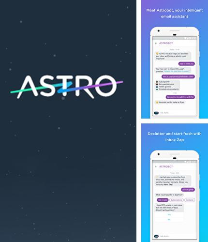 Besides Seconds Pro: Interval Timer Android program you can download Astro: AI Meets Email for Android phone or tablet for free.