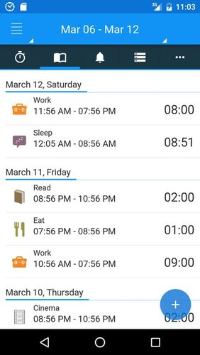 aTimeLogger - Time tracker app for Android, download programs for phones and tablets for free.