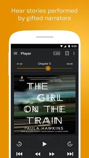 Audiobooks from Audible app for Android, download programs for phones and tablets for free.