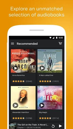 Скріншот програми Audiobooks from Audible на Андроїд телефон або планшет.