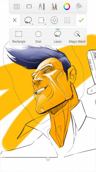 Screenshots of Autodesk: SketchBook program for Android phone or tablet.